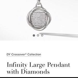 YURMAN Infinity LARGE Pendant with Diamonds